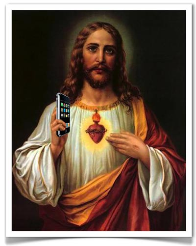 Image result for jesus iphone